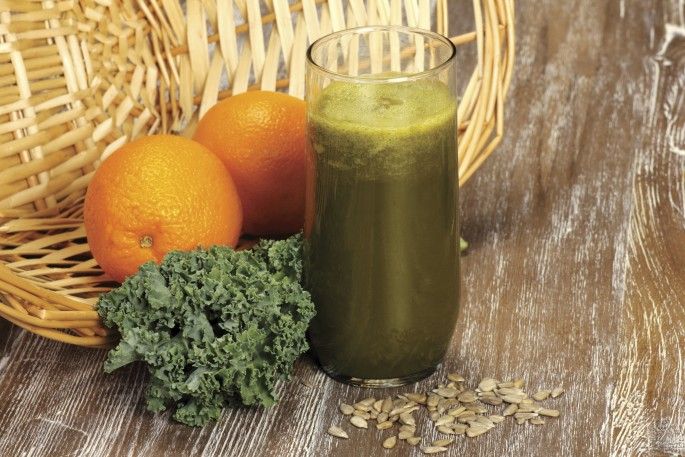 orange kale juice