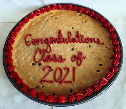 Graduate cookie cake